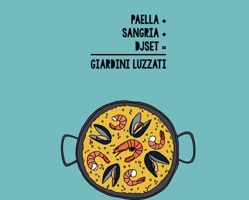 Paella e Sangria Bianca con musica spagnola