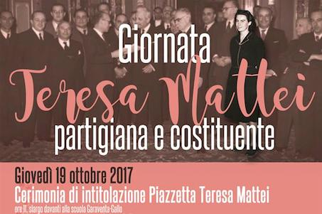 """Giornata """"Teresa Mattei"""", Partigiana e Costituente"""